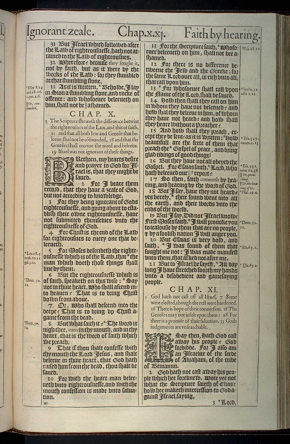 Romans Chapter 11 Original 1611 Bible Scan