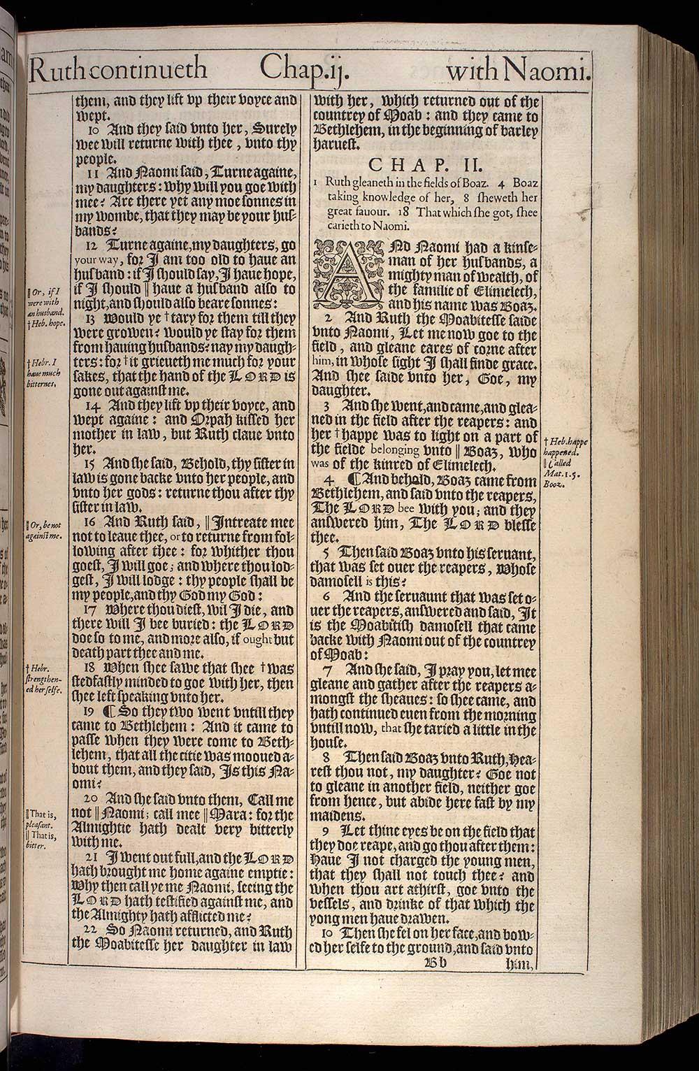 Ruth Chapter 1 Original 1611 Bible Scan