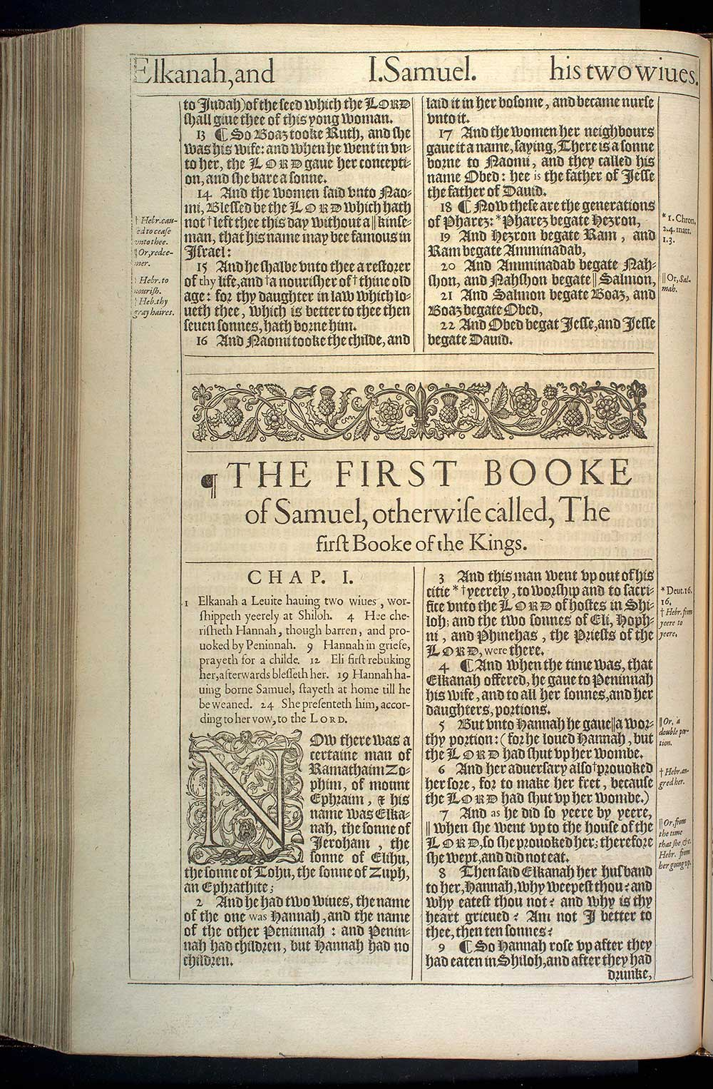 1 Samuel Chapter 1 Original 1611 Bible Scan