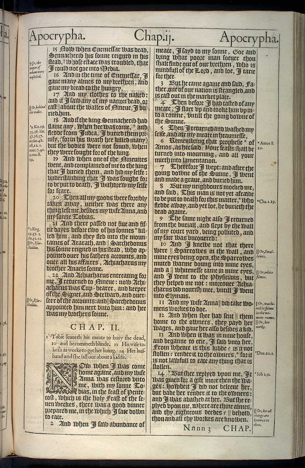 Tobit Chapter 1 Original 1611 Bible Scan
