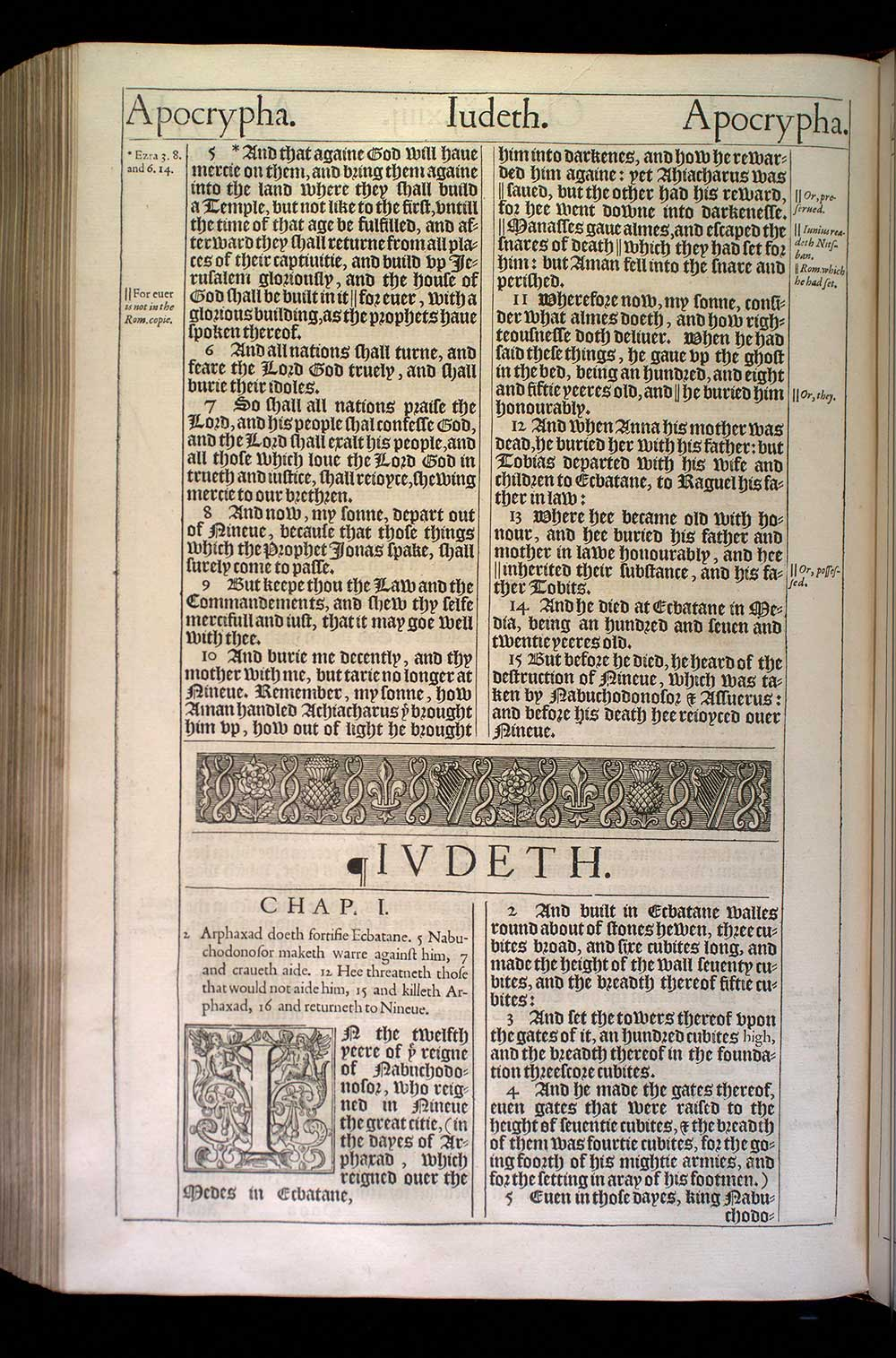 Judith Chapter 1 Original 1611 Bible Scan