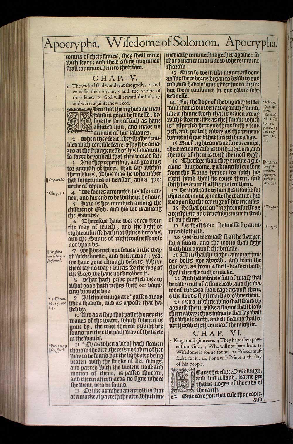 Wisdom of Solomon Chapter 4 Original 1611 Bible Scan
