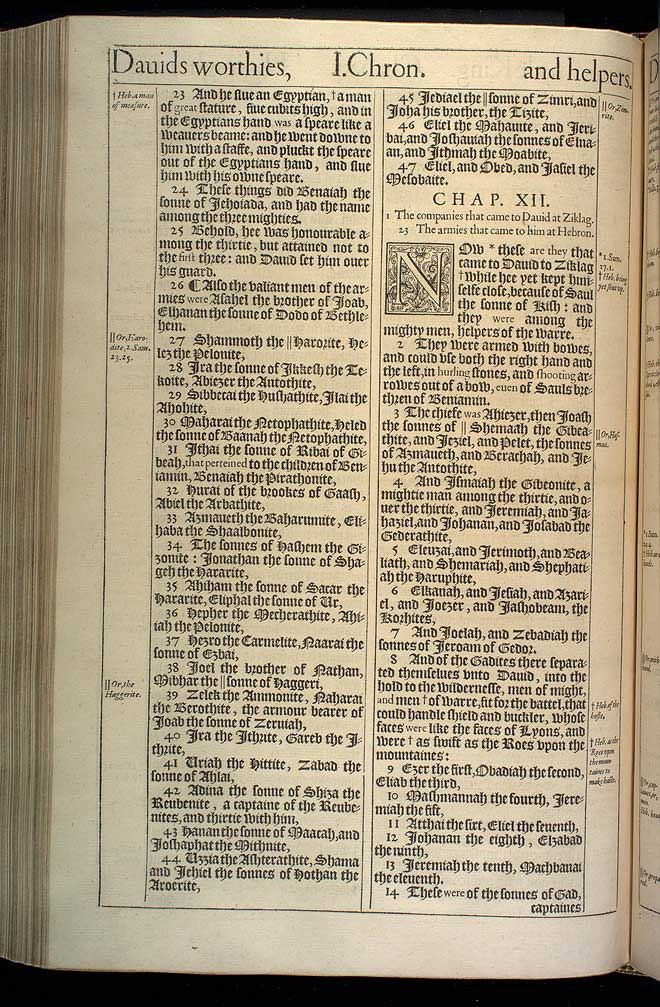 1 Chronicles Chapter 11 Original 1611 Bible Scan