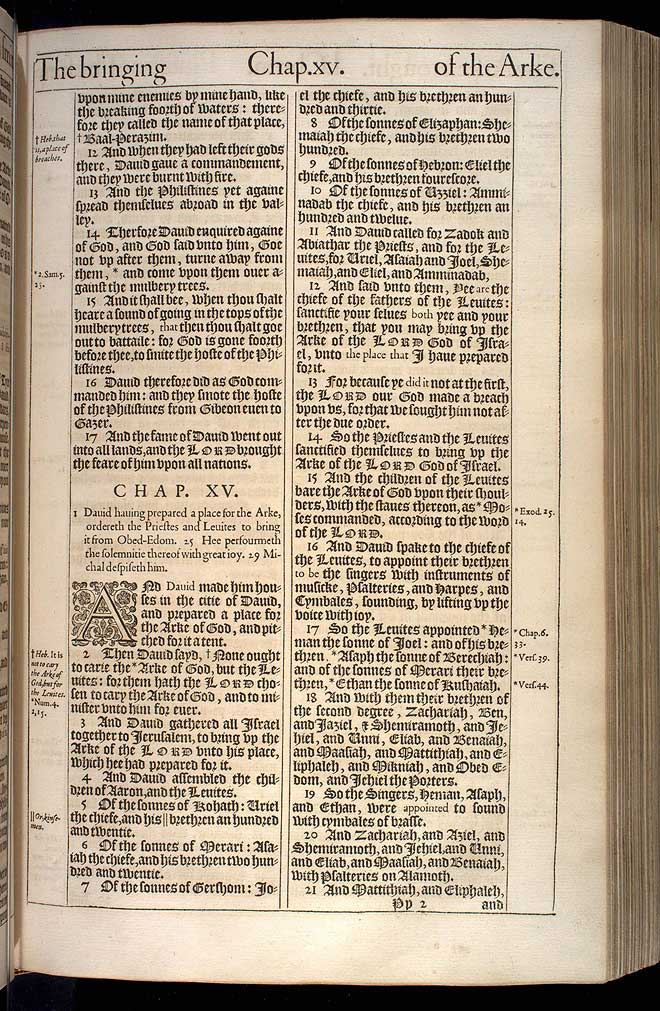 1 Chronicles Chapter 15 Original 1611 Bible Scan