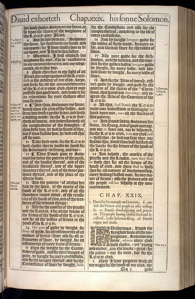 1 Chronicles Chapter 28 Original 1611 Bible Scan