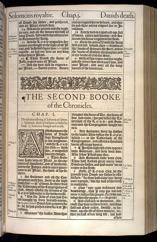 2 Chronicles Chapter 1 Original 1611 Bible Scan