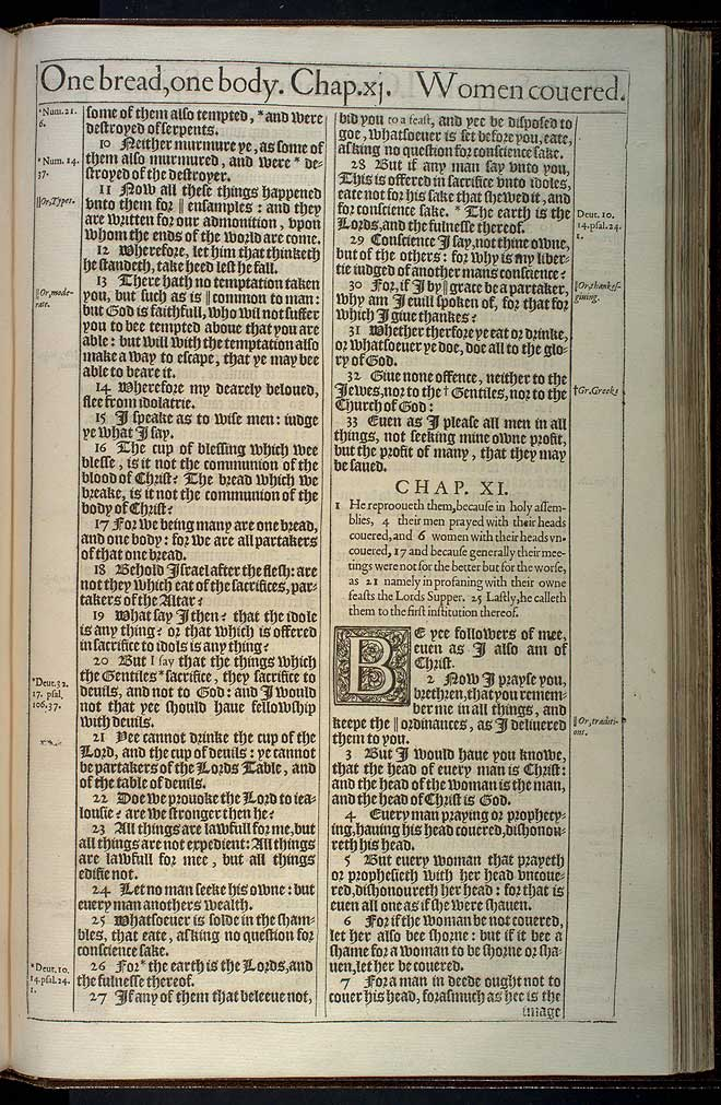 1 Corinthians Chapter 11 Original 1611 Bible Scan