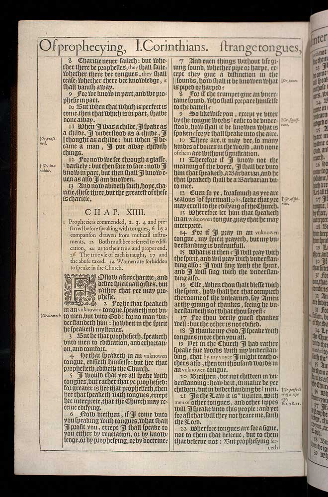 1 Corinthians Chapter 14 Original 1611 Bible Scan