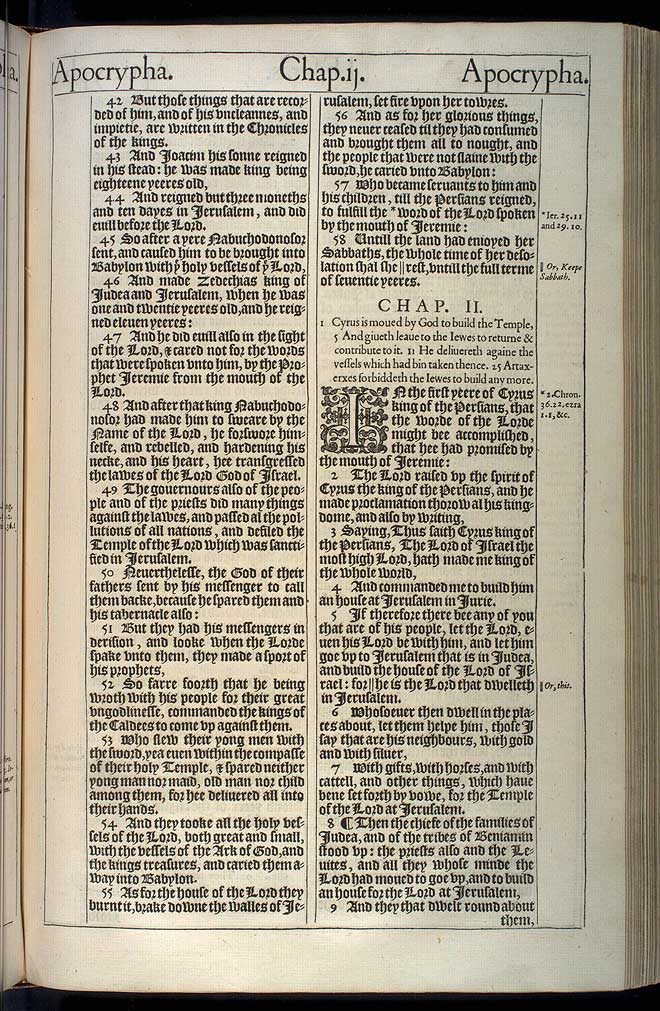 1 Esdras Chapter 1 Original 1611 Bible Scan