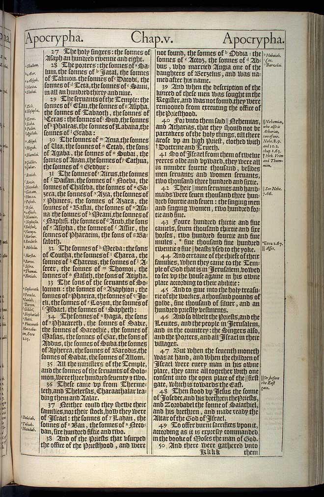 1 Esdras Chapter 5 Original 1611 Bible Scan