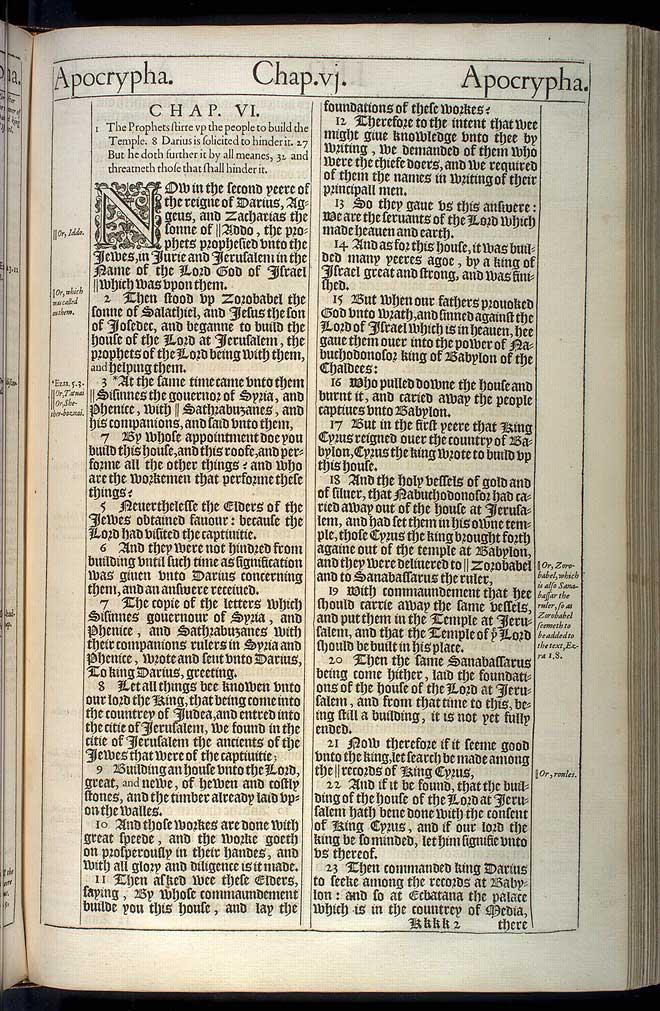 1 Esdras Chapter 6 Original 1611 Bible Scan