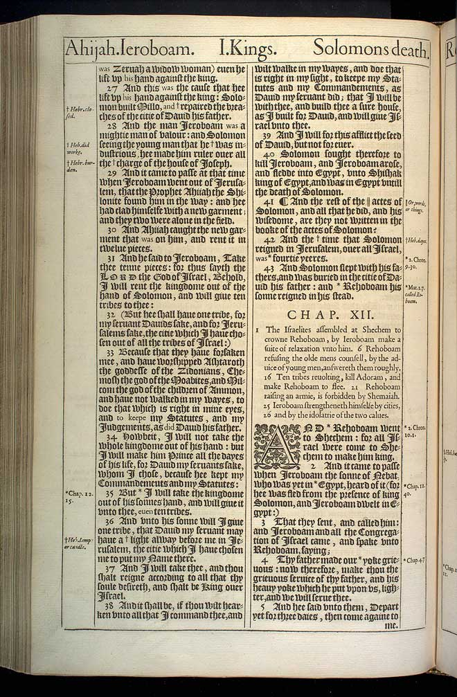 1 Kings Chapter 11 Original 1611 Bible Scan