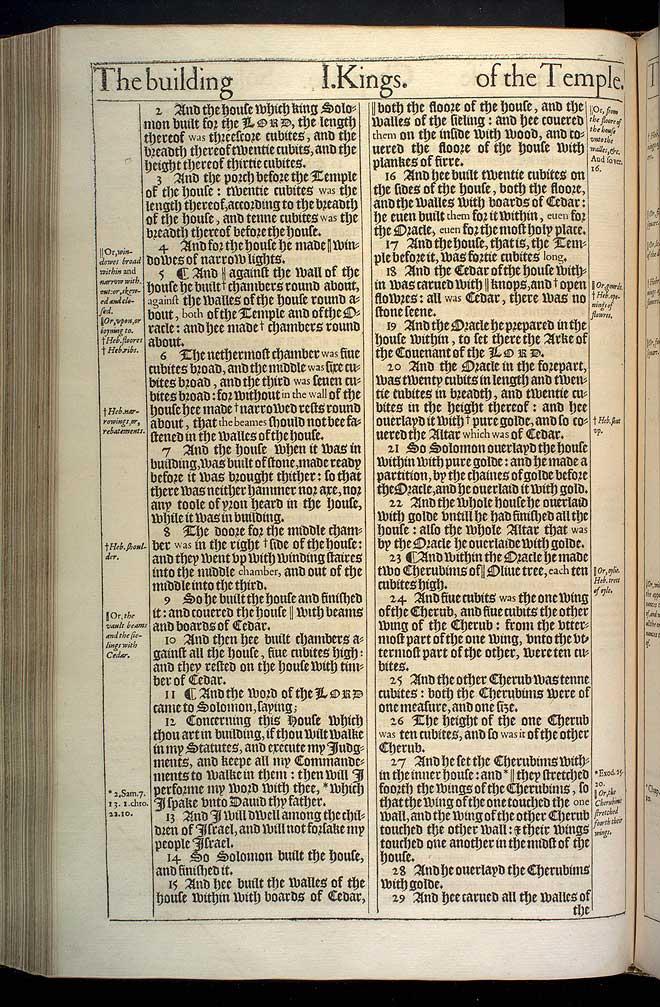 1 Kings Chapter 6 Original 1611 Bible Scan