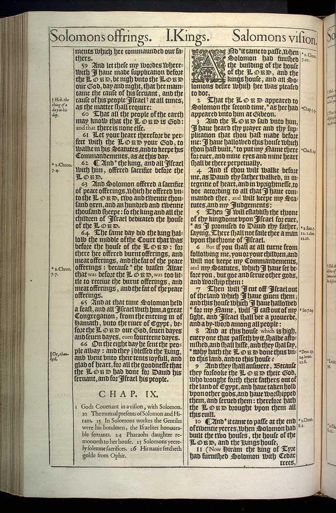 1 Kings Chapter 8 Original 1611 Bible Scan