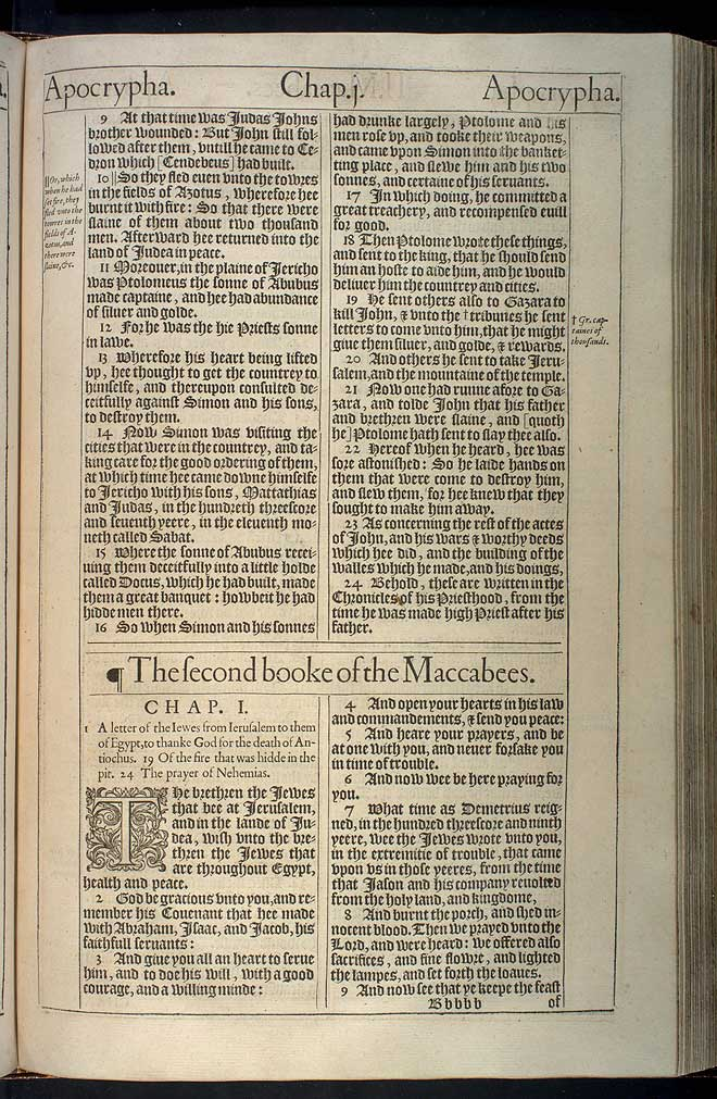 2 Maccabees Chapter 1 Original 1611 Bible Scan