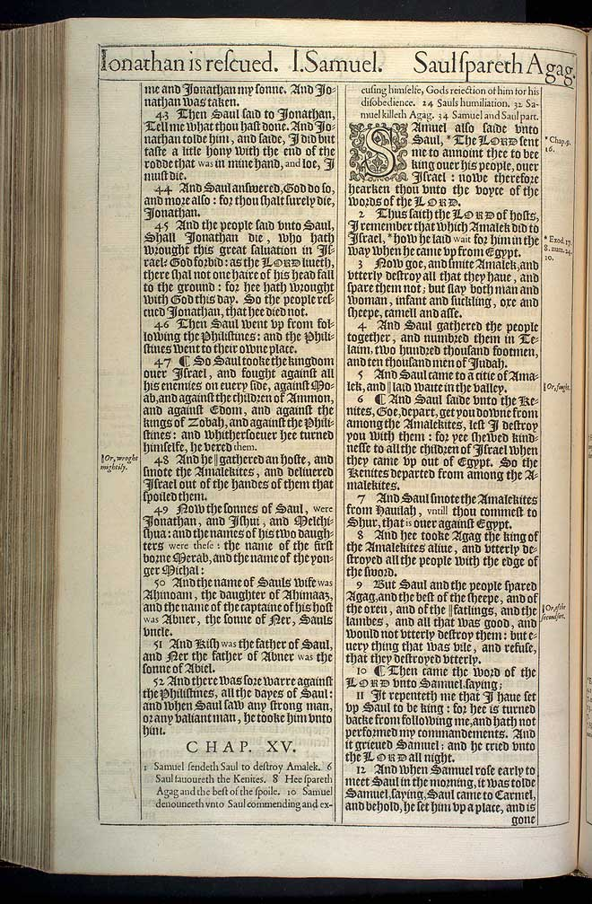1 Samuel Chapter 14 Original 1611 Bible Scan