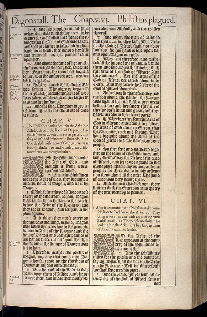 1 Samuel Chapter 6 Original 1611 Bible Scan