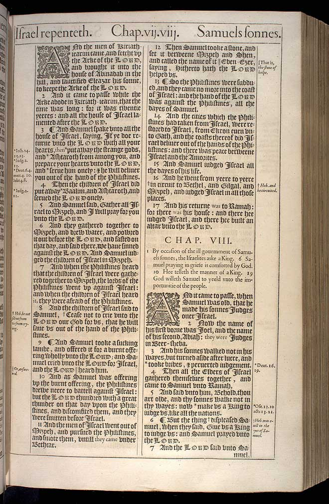 1 Samuel Chapter 7 Original 1611 Bible Scan