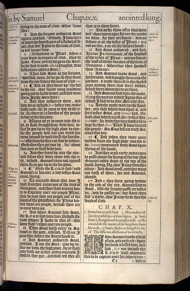 1 Samuel Chapter 10 Original 1611 Bible Scan