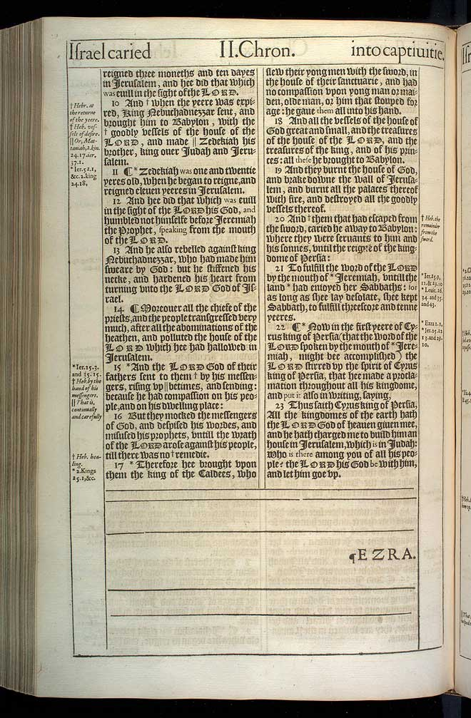 2 Chronicles Chapter 36 Original 1611 Bible Scan