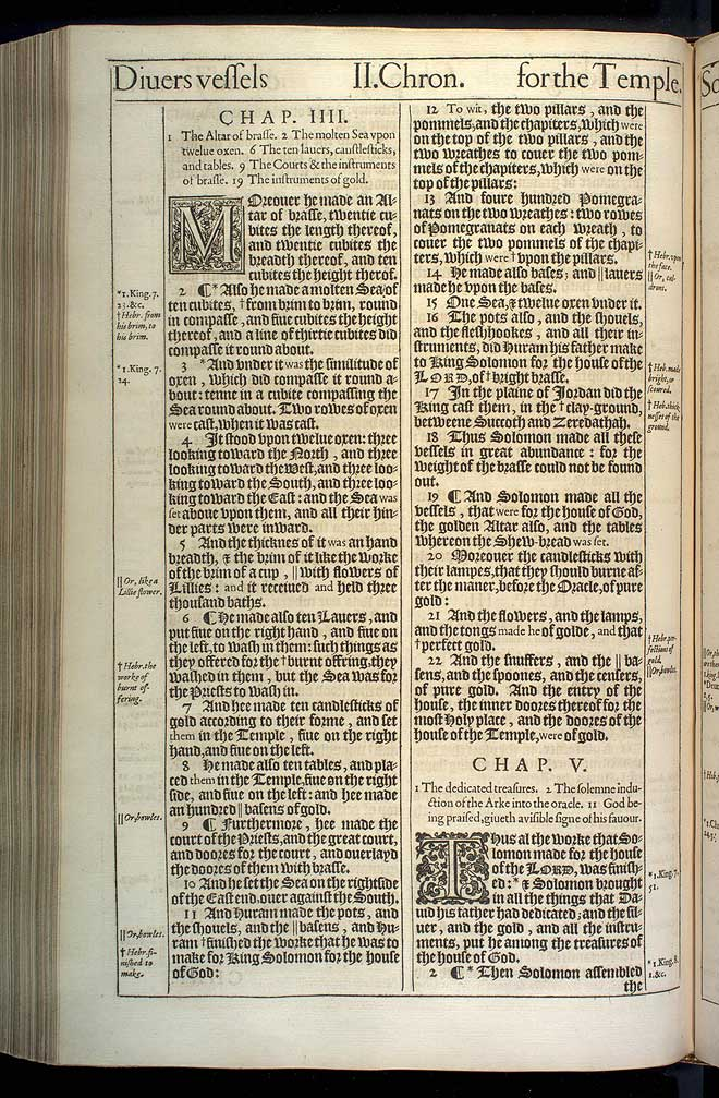 2 Chronicles Chapter 5 Original 1611 Bible Scan