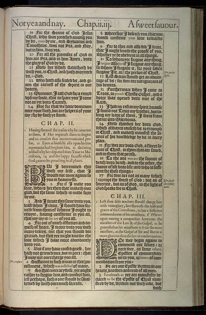 2 Corinthians Chapter 1 Original 1611 Bible Scan