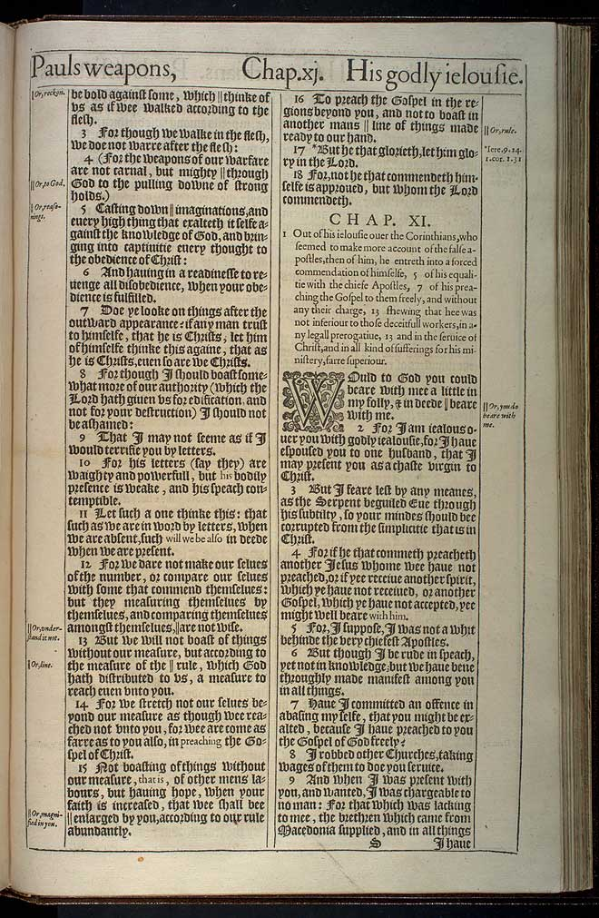 2 Corinthians Chapter 10 Original 1611 Bible Scan