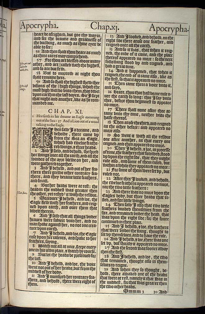 2 Esdras Chapter 11 Original 1611 Bible Scan