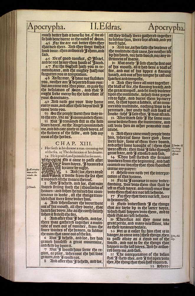 2 Esdras Chapter 13 Original 1611 Bible Scan