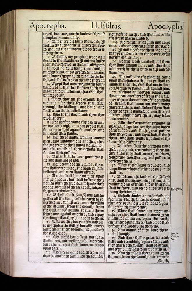 2 Esdras Chapter 15 Original 1611 Bible Scan
