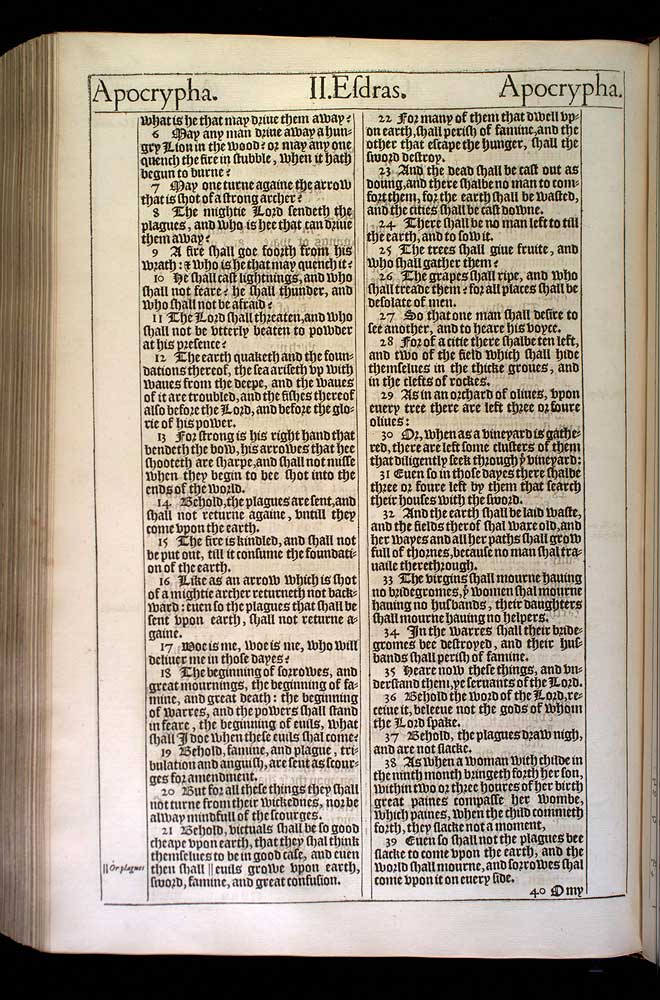 2 Esdras Chapter 16 Original 1611 Bible Scan