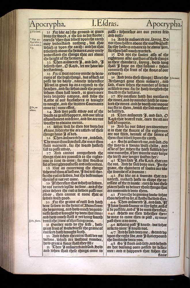 2 Esdras Chapter 4 Original 1611 Bible Scan