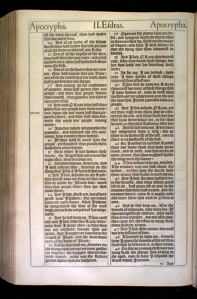 2 Esdras Chapter 5 Original 1611 Bible Scan