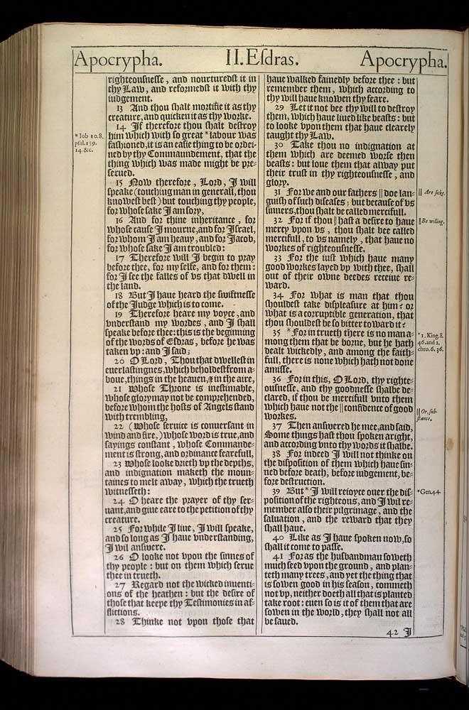 2 Esdras Chapter 8 Original 1611 Bible Scan