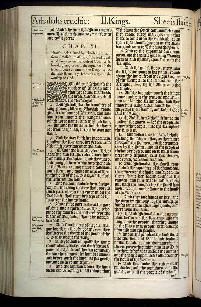 2 Kings Chapter 11 Original 1611 Bible Scan