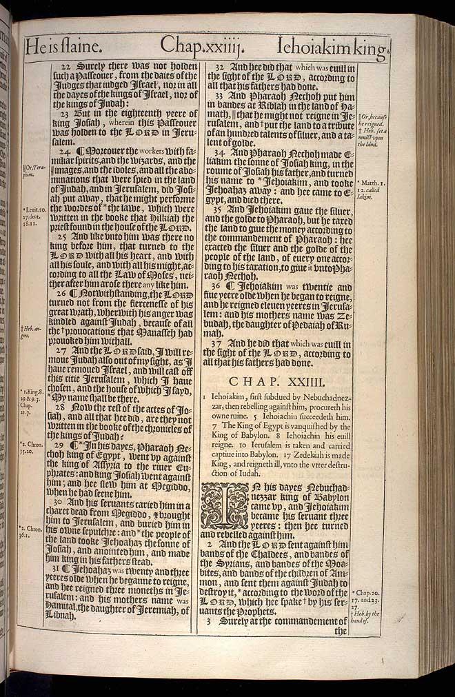 2 Kings Chapter 23 Original 1611 Bible Scan