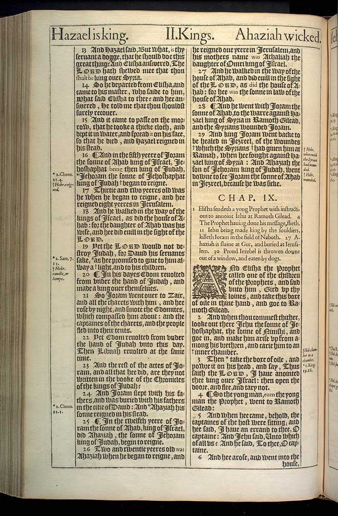 2 Kings Chapter 8 Original 1611 Bible Scan