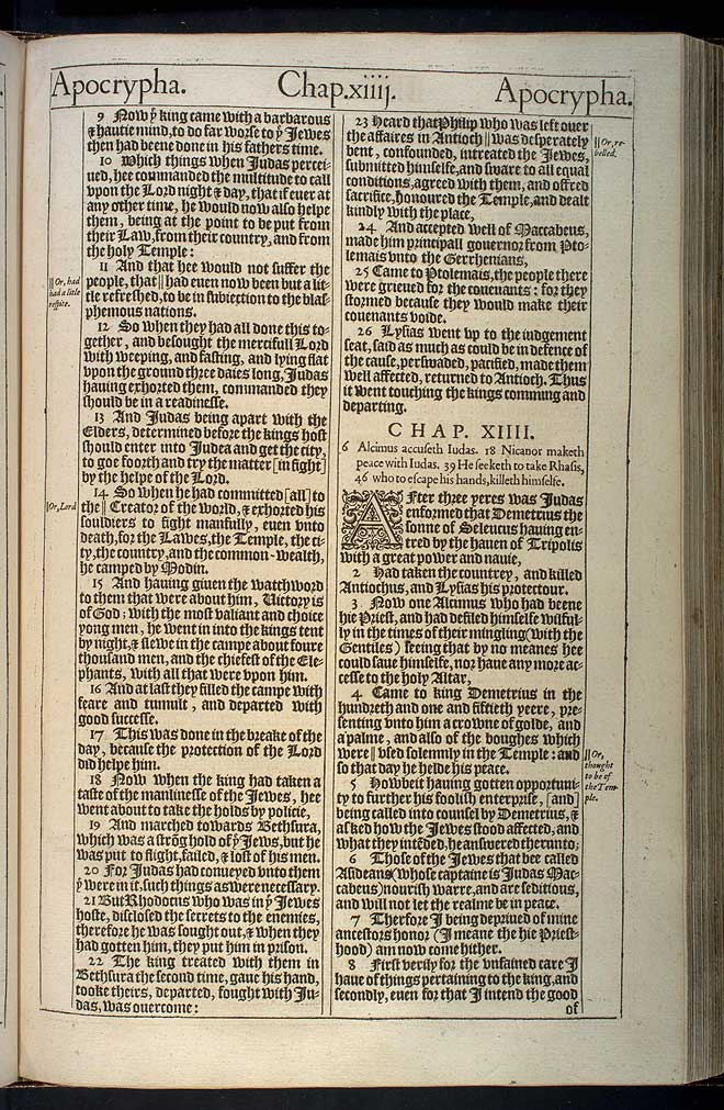 2 Maccabees Chapter 13 Original 1611 Bible Scan