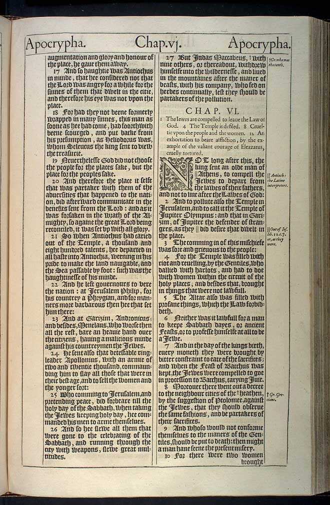 2 Maccabees Chapter 5 Original 1611 Bible Scan