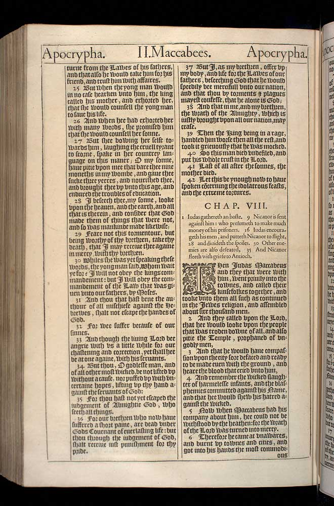 2 Maccabees Chapter 7 Original 1611 Bible Scan