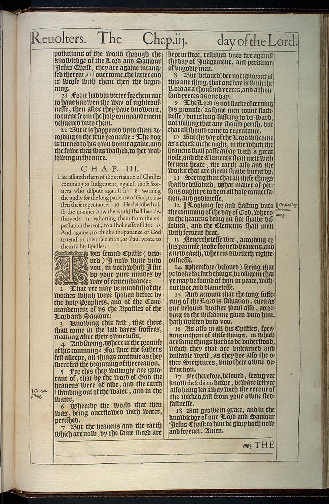 2 Peter Chapter 3 Original 1611 Bible Scan