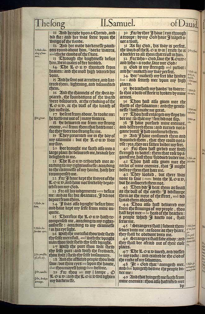 2 Samuel Chapter 22 Original 1611 Bible Scan