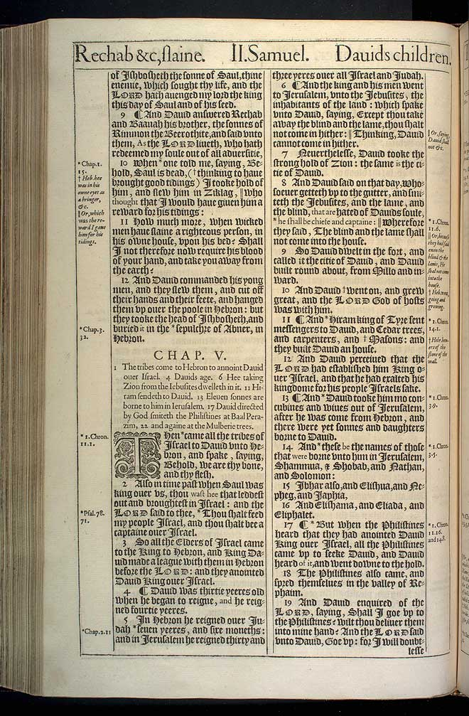 2 Samuel Chapter 4 Original 1611 Bible Scan