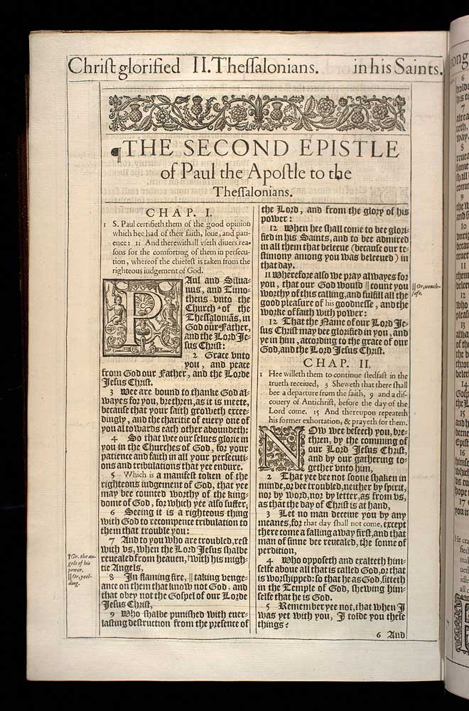 2 Thessalonians Chapter 1 Original 1611 Bible Scan