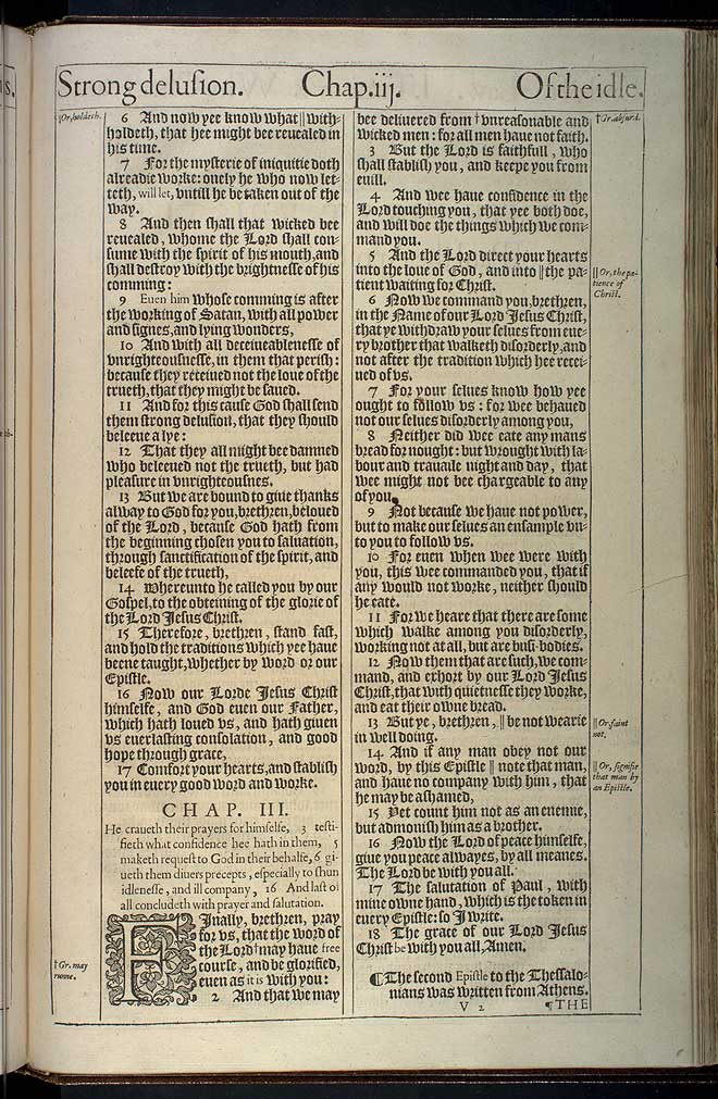 2 Thessalonians Chapter 2 Original 1611 Bible Scan
