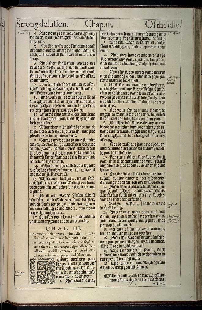 2 Thessalonians Chapter 2 Original 1611 Bible Scan