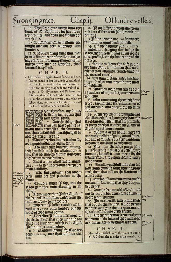 2 Timothy Chapter 1 Original 1611 Bible Scan