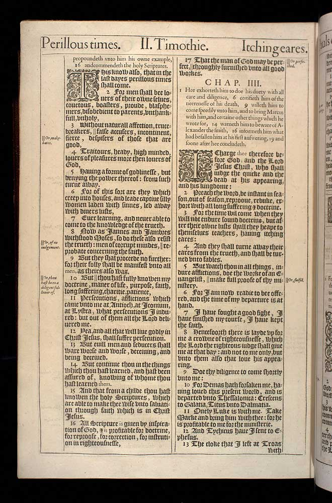 2 Timothy Chapter 4 Original 1611 Bible Scan
