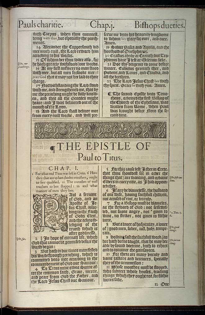 2 Timothy Chapter 4 Original 1611 Bible Scan