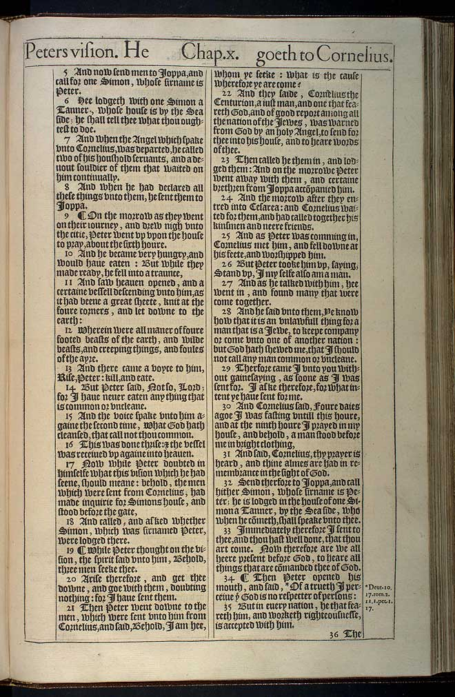 Acts Chapter 10 Original 1611 Bible Scan